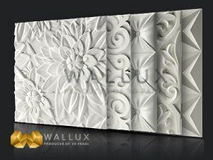 پنل سه بعدی والوکس طرح دلتا ارکید چستر پرشین و طرح فلورا